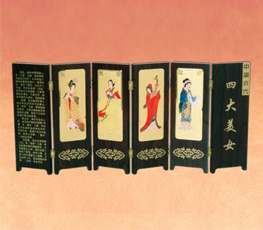 中国古代四大美女屏风